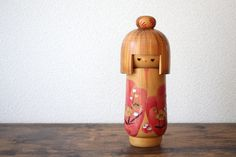 Items similar to Cute Kokeshi vintage modern kokeshi made by Japanese artisan hand painted and hand carved on Etsy Vintage Gifts, Vintage Items, Vintage Outfits, Vintage Modern, Vintage Style, Handmade Living Room Furniture, Hand Carved, Hand Painted, Antique Tea Cups