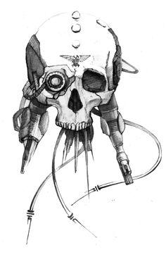 Servo-skull by bigsiberiancat.deviantart.com on @DeviantArt