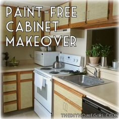 For renters!!  I'm not a huge fan of this choice but there is a lot to choose from..  how to make over kitchen cabinets without paint diy faux grasscloth burlap shelf liner rental apartment The DIY Homegirl tutorial..