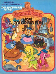 """Disney's Adventures of the Gummi Bears"": More Coloring Fun (Wanderer Books/Simon and Schuster) 1990 Cartoons, Old School Cartoons, Disney Princess Books, Coloring Books, Coloring Stuff, Adult Coloring, Bear Costume, Disney Colors, Adventures By Disney"