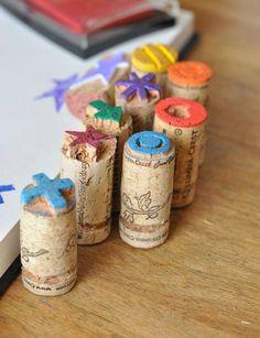 des tampons fabriqués à base de bouchons en liège