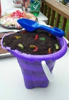 Oreo dirt cake, used to have this all the time as a kid! Great for a boys bday party, use with decorative dump trucks on top, serve with excavator