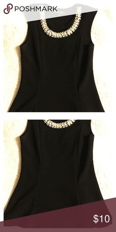 Elegant shirt by Emma's Closet White Pearls| Black Shirt| Elastic| Emma's Closet Tops Camisoles
