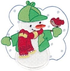 Snow Cuties 4 Applique - 2 Sizes! | Winter | Machine Embroidery Designs | SWAKembroidery.com Bunnycup Embroidery