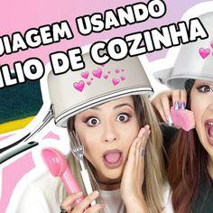 Maquiagem usando utensílio de cozinha com Gabih Machado