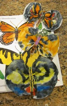 Coffee filter butterflies to go with book waiting on wings