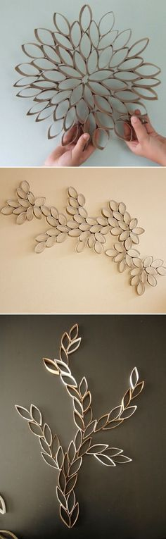 wall art from toilet paper rolls Toilet Paper Roll Art, Rolled Paper Art, Toilet Paper Roll Crafts, Diy Paper, Home Crafts, Diy And Crafts, Deco Table Noel, Creation Deco, Diy Wall