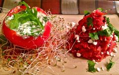 Spice Up Cooking : Spinach & Ricotta Stuffed Tomato with Beet & Cabba...