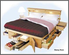 platform #bed with drawers