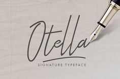 Introducing Otella Signature Typeface - a font that is very fresh and unique sty. Introducing Otella Signature Typeface – a font that is very fresh and unique style handmade. Handwriting Fonts, Script Fonts, All Fonts, Typeface Font, Typography Fonts, Layout Design, Logo Design, Graphic Design, Hand Drawn Fonts