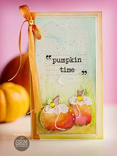 Gorgeous water colored fall card!