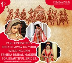 Take Everyone's Breath Away on Your #Wedding Day! @feminaplus #Bridal #Makeup for Beautiful #Brides.  Book your slot now @ 0172 4622884 (Chd), 4025050 (PKL) & 2444244 (Ambala)