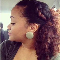 Very cute. Love this natural hair style