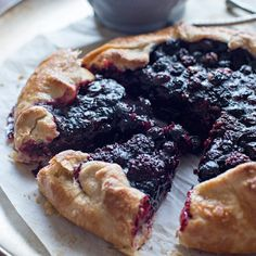 Rustic Berry Tart with Vanilla Custard