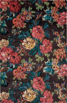 Rose pattern rug