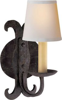 -light hand forged iron sconce  item # CHD1401BR