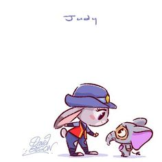 "1,375 Likes, 8 Comments - David Gilson (@princekido) on Instagram: ""Disney's Chibies of Judy Hopps & Finnick www.facebook.com/artofdavidgilson/…"""