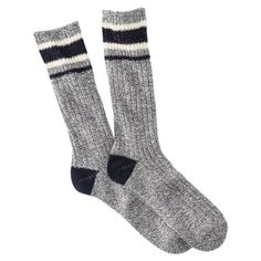 Mossimo Supply Co. Men's Rugby Stripe Hiker Sock - Assorted Colors