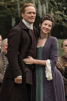 Claire and Jamie Fraser - Caitriona Balfe and Sam Heughan. Claire Fraser, Jamie And Claire, Jamie Fraser, Outlander Quotes, Outlander Tv Series, Fraser Clan, The Fiery Cross, Sam Heughan Outlander, Caitriona Balfe