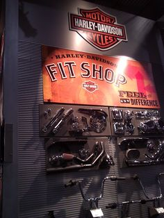 The Harley-Davidson Fit Shop. #NYMotorcycleShows #Bikes #Cruisers #Motorcycles