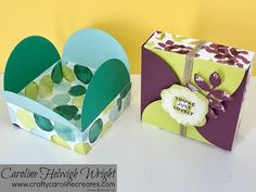 Oh So Eclectic Interlocking Circles Lid Gift Box - Video Tutorial with Stampin' Up Products - YouTube