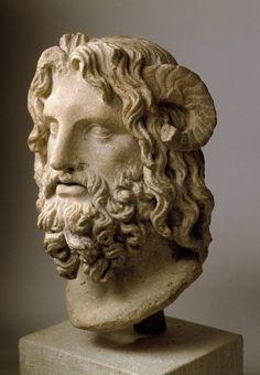 Marble Head of Serapis. Brooklyn Museum