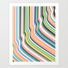 Lines Art Print by Kimsey Price - $15.60