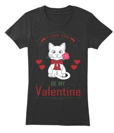 Funny Valentines Day   Women's Tshirt Black Women's T-Shirt Front