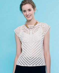Crochet filet top! Free pattern! There are plenty on this page for you to enjoy!