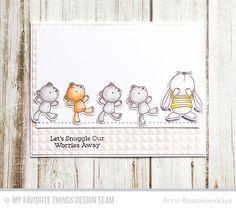 Snuggle Bunnies, Snuggle Bunnies Die-namics, Split Triangle Background Basic Stitch Lines Die-namics - Anna Kossakovskaya #mftstamps