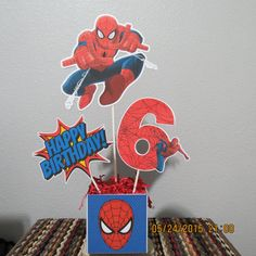 Spider-man Centerpiece by ScrapbookSolutions on Etsy