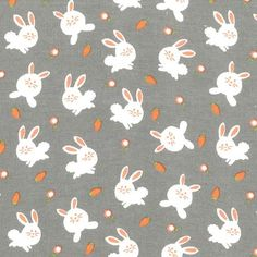 CF6524 BUNNY LOVE TRUFFLE on cotton flannel baby flannels BUNNIES ANIMALS Michael miller