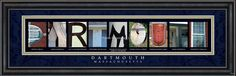 Dartmouth, MA. Framed Letter Art