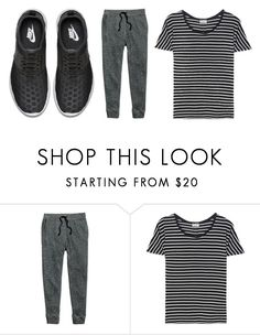 """""""Run Alaïs"""" by suellenborinhoran ❤ liked on Polyvore featuring H&M, Yves Saint Laurent and NIKE"""