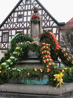 Bavaria Easter Well