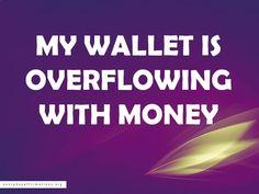 My wallet is overflowing