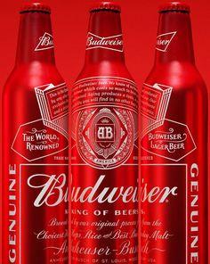 Novas latas, garrafas e logotipo da Budweiser com um design classy que vai matar a concorrência!