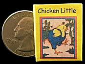"A miniature book for your dollhouse or book collection - ""Chicken Little"""