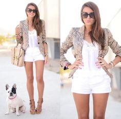 Blazer and the dog is cute too