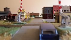 Whittemore HO Scale Train Table - Layout crossing - July 2014