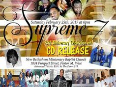"Howcee Productions Gospel's Wed. Night Gospel Artist Interviews ""The Supreme 7"" Wednesday Feb. 15 2017 8PM EST Popular or famous Supreme 7 music songs: Where Would I Be, All Night, Old Time Way, Jesus Is His Name, I'll Fly Away, Available To You. More music songs There's A Blessing For You, Working for Jesus, When I Get There, So Much to Shout About, I Thank You, Tell Heaven, Heaven Or Hell. More music songs All Power, Sign Me Up, Don't Ever Leave Me, By His Grace, ..."