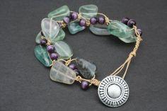 ohh natural cut fluorite macrame bracelet!