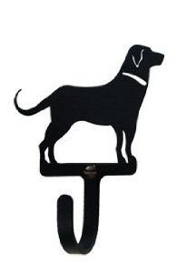 Dog Wall Hook - A Bit Over an Inch Wide by Maine Home Journal. $13.70. Finish is baked on for durability.. Made in America. Crafted from Iron with a black matte finished.. This decorative iron wall hook has a baked on flat black powder coating for the traditional ironwork look. This fine iron product is made in America.