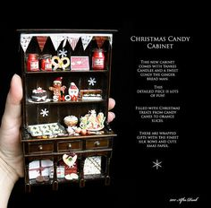SALE  Fun Candy Christmas Cabinet  in 12th by afterdarkafterall