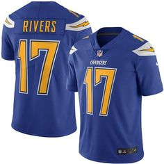 Nike Chargers #17 Philip Rivers Electric Blue Men's Stitched NFL Limited Rush Jersey