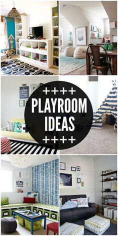 A roundup of amazing playroom ideas! Check it out on { lilluna.com }
