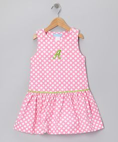 Take a look at this Pink Polka Dot Initial Jumper - Toddler & Girls on zulily today!