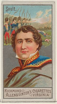 Nicolas Jean-de-Dieu Soult, from the Great Generals Series (N15) for Allen & Ginter Cigarettes, c1888.