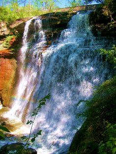 Bradywine Falls, Sagamore Hills Ohio. Waterfall.