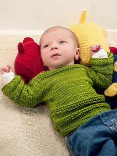 Wyatt is a unisex, pullover variation of in threes: a baby cardigan. Designed with my first nephew in mind, it is knitted flat and in one piece with seaming up the sides and under the arms. Basic enough for a beginning knitter, with only garter and stockinette stitch required, but with enough interest in the design for someone with more experience, Wyatt is the perfect jumper for the little one in your family.